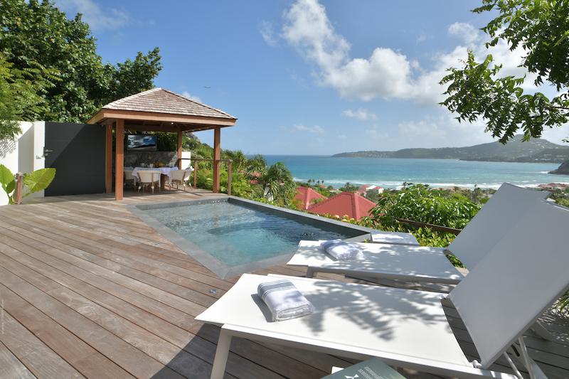 Villa Silhouette - Small Villa Rental St Barth Anse de Cayes Ocean View - Simming pool