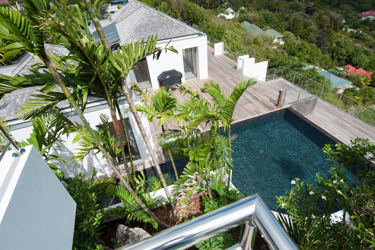 Villa Sol Y Mar - Privacy Villa for Rent St Barth with Fitness Equipment - Aerial view