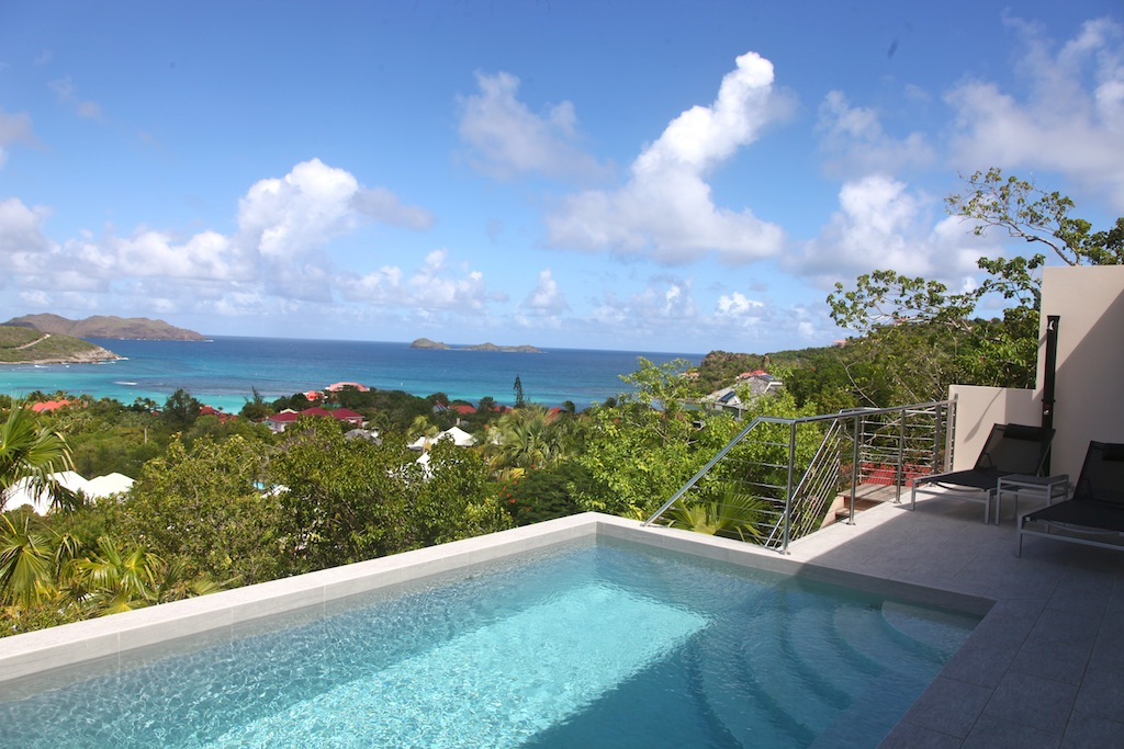 Villa Suite Acajous - Seaview Villa for Rent St Barth with an Amazing View over St Jean - Seaview