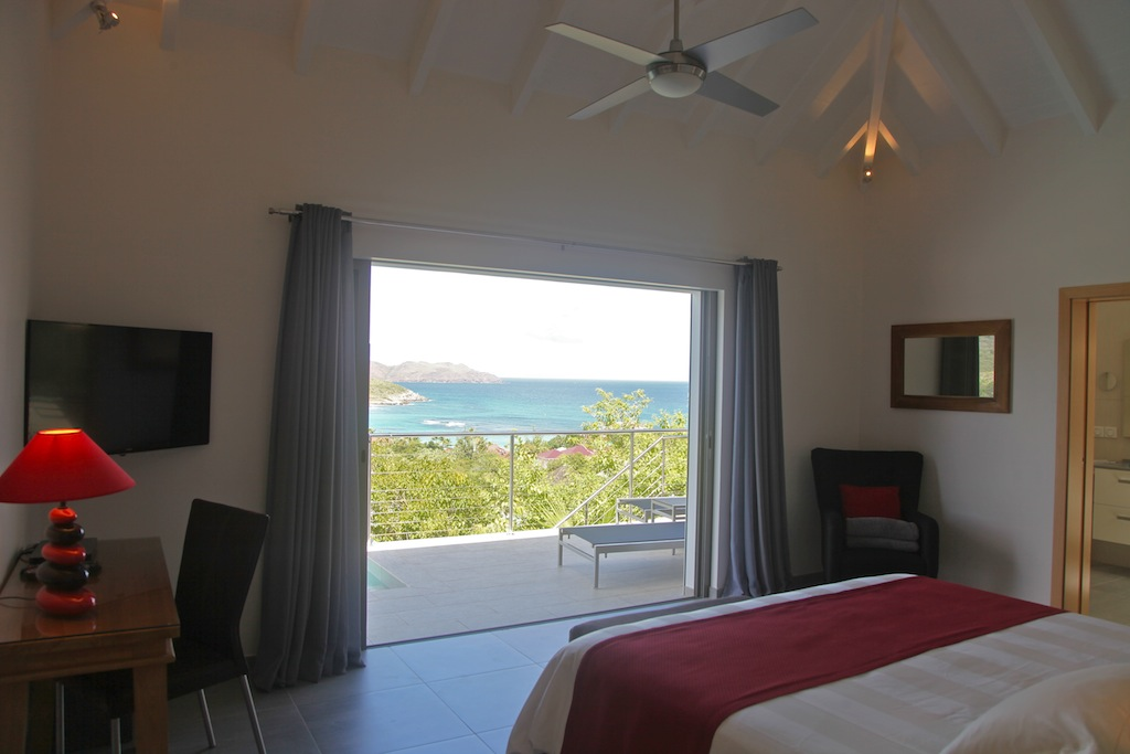 Villa Suite Acajous - Seaview Villa for Rent St Barth with an Amazing View over St Jean - Bedroom