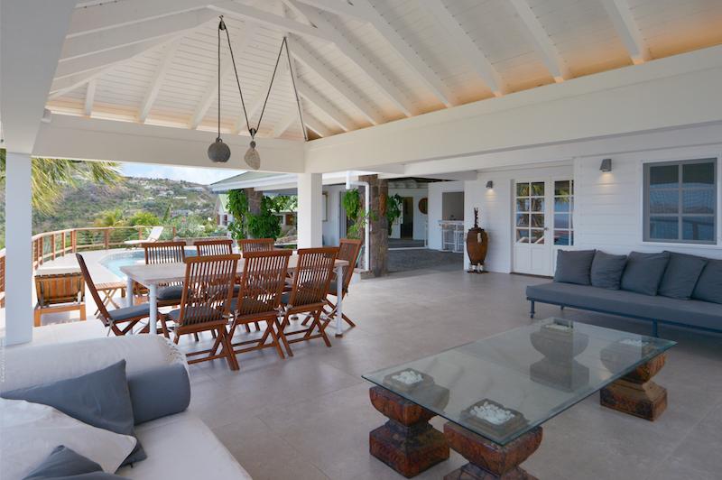 Villa Sunrise - Sunset Villa for Rent St Barth with Pool - Main Area