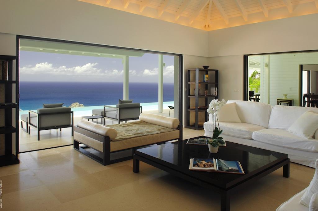 Villa The View - Chic Villa for Rent St Barth Perfect for Suntan Addicts - Living room