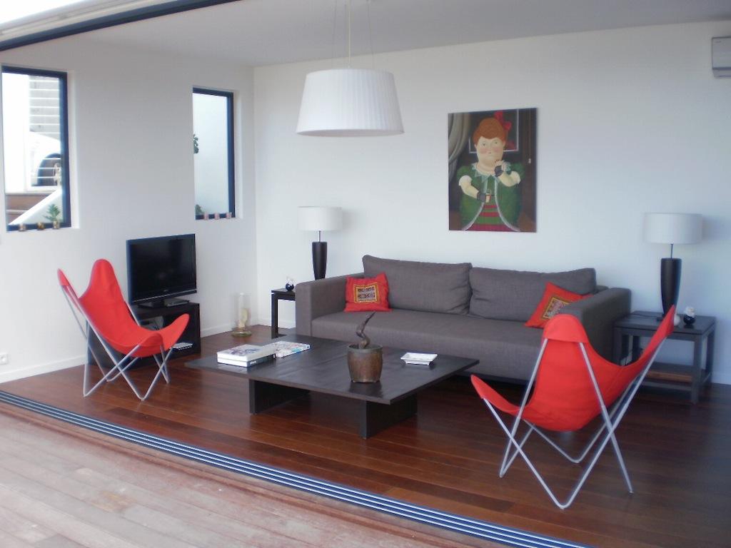Villa Ti Agave - Modern Villa Rental St Barth Facing the Caribbean Ocean - Living room