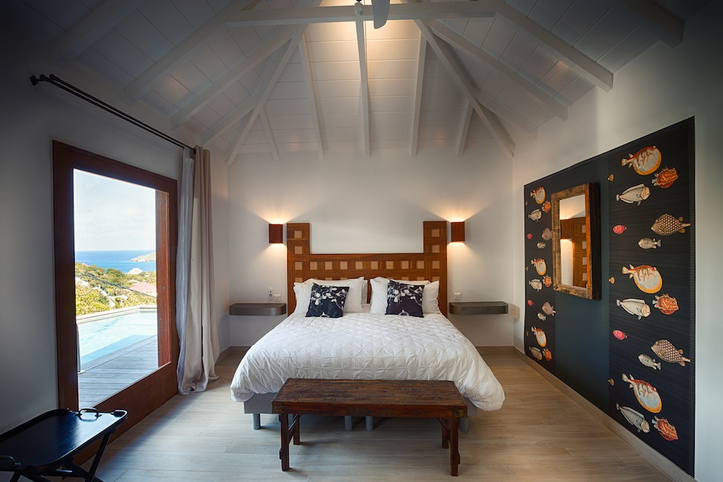Villa Ti Lama - 1 Bedroom Villa for Rent St Barth with View Over the Hills of Flamands - Bedroom