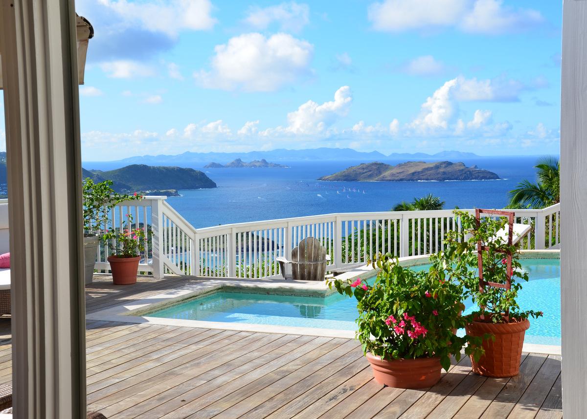 Villa Vagabond - Sunset Villa for Rent in the Hillside of Petite Saline St Barth - Seaview