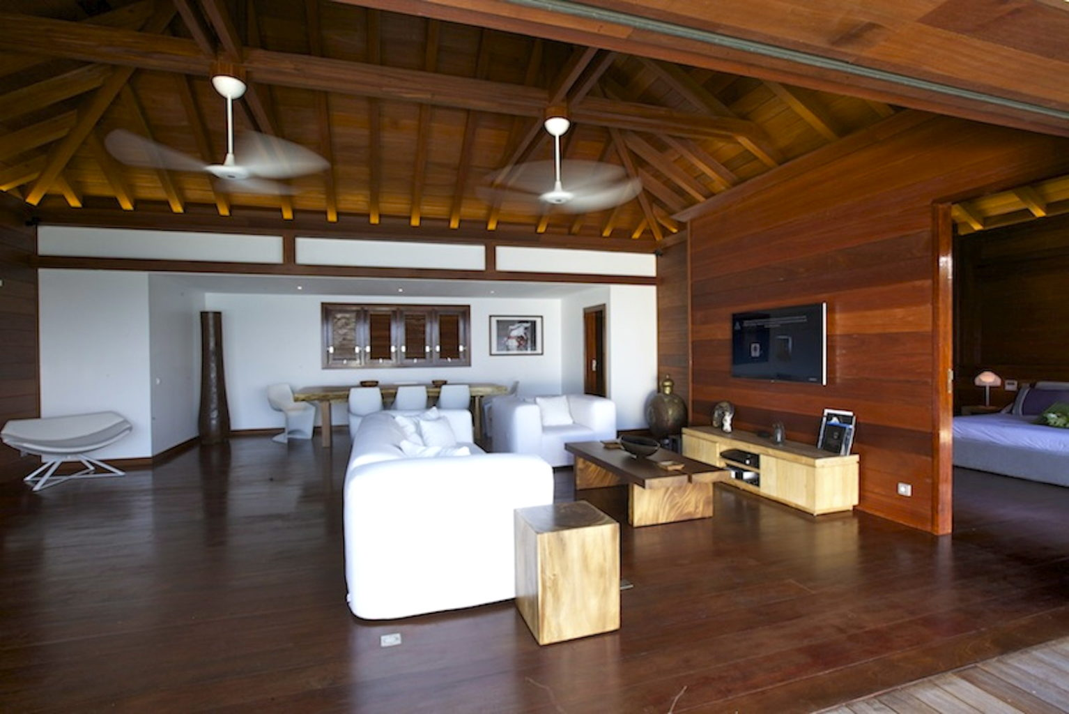 Villa What Else - Balinese Villa for Rent St Barth with Car Rental Included - Living room