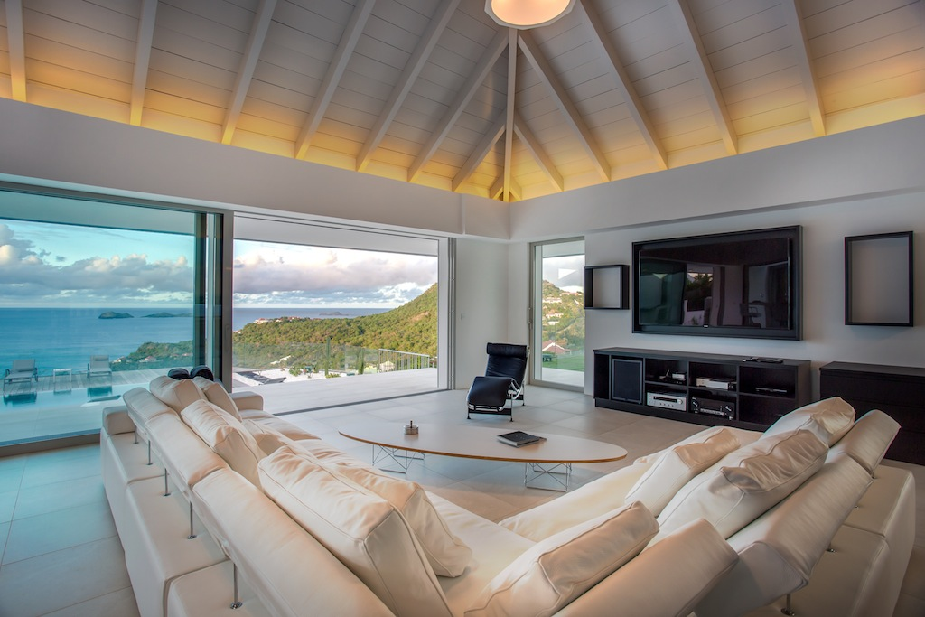 Villa Wine Note - 5 Bedroom Villa for Rent St Barth with Gym - Living room