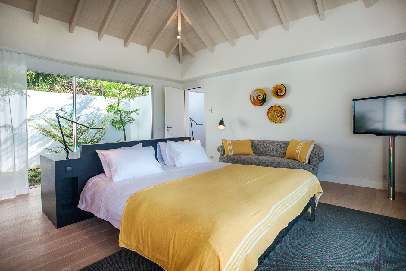 Villa Wings - 4 Bedroom Villa for Rent St Barth Ideal for Architecture Lovers - Bedroom