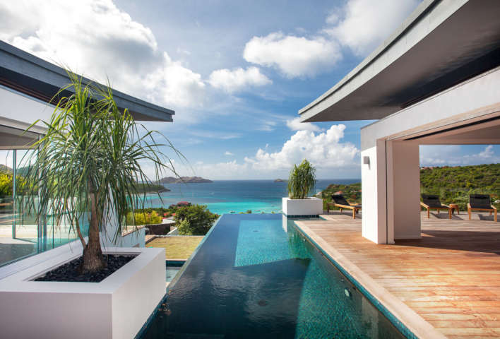 Villa Wings - 4 Bedroom Villa for Rent St Barth Ideal for Architecture Lovers - Pool
