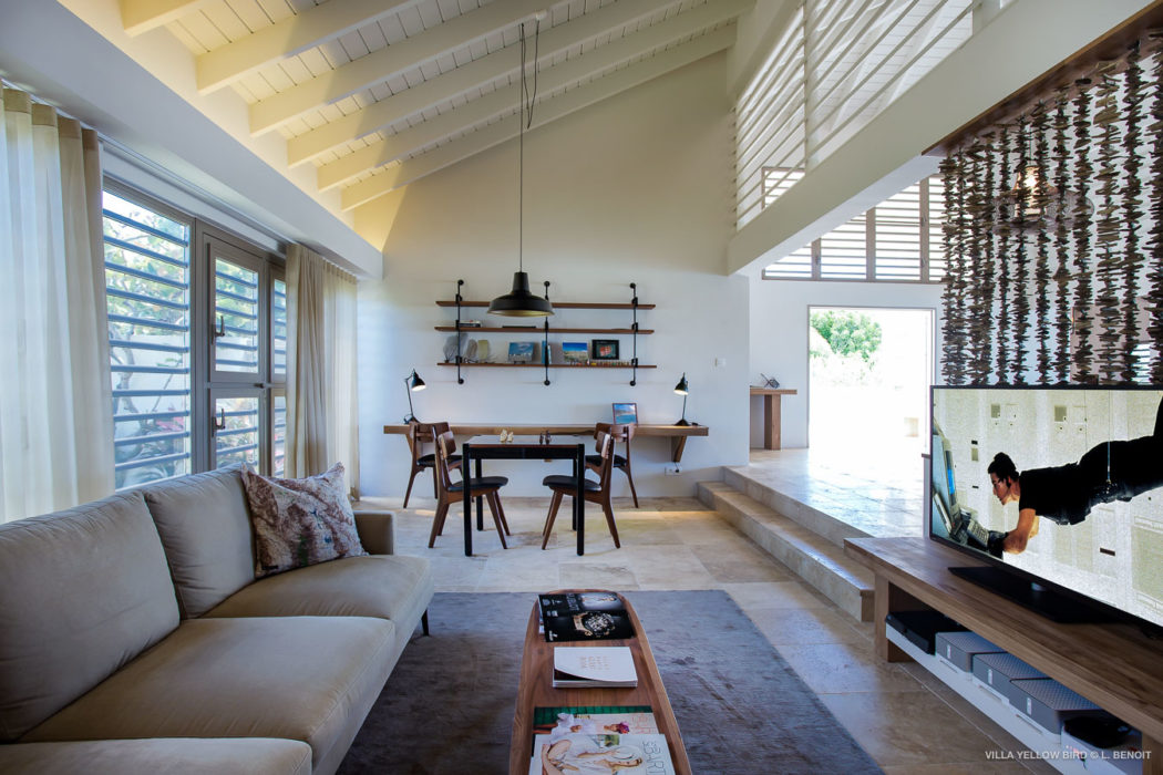 Villa Yellow Bird - Chic Villa for Rent St Barth Ideal for a Serene Vacation with Authentic Atmosphere - Living Room