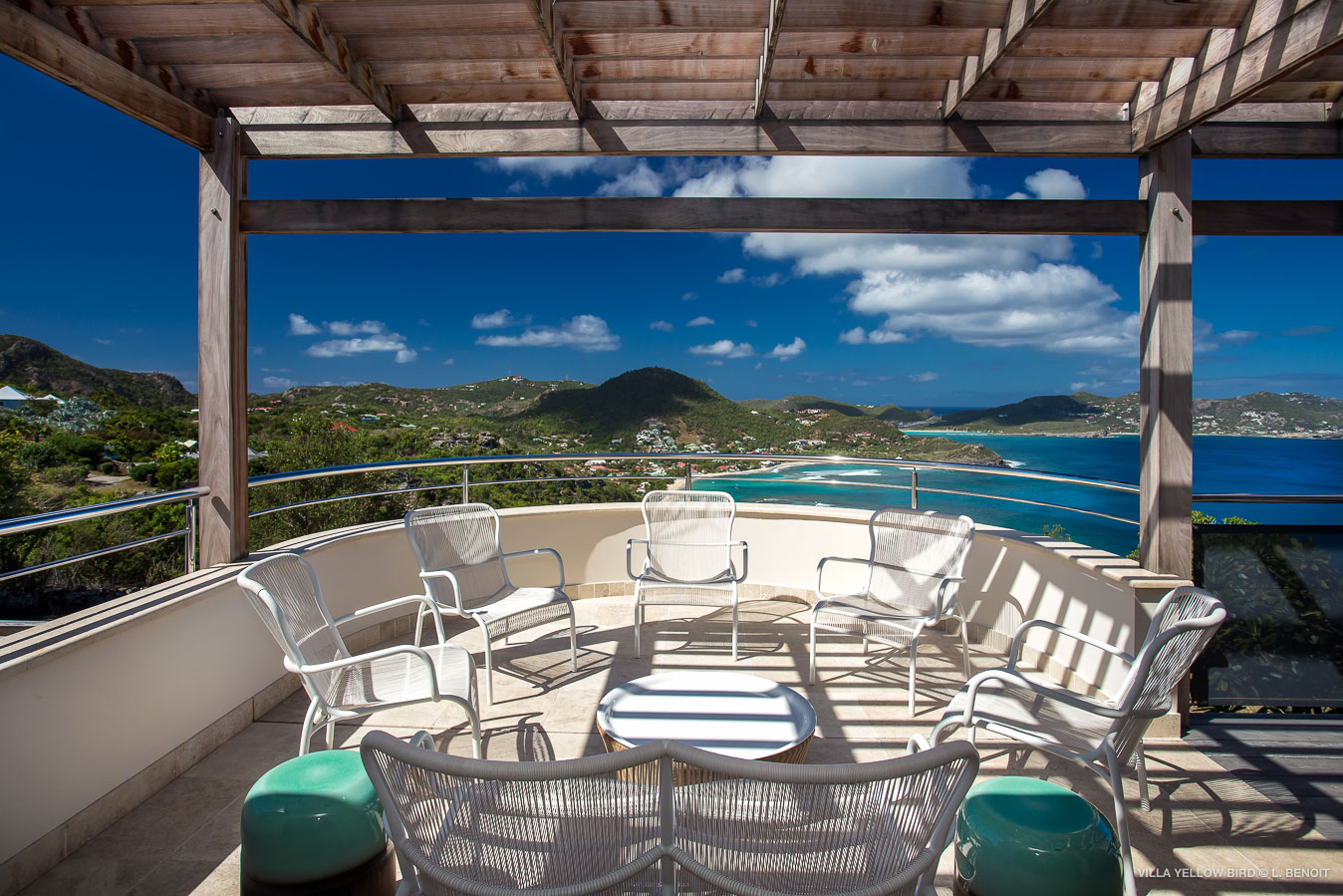 Villa Yellow Bird - Chic Villa for Rent St Barth Ideal for a Serene Vacation with Authentic Atmosphere - Patio
