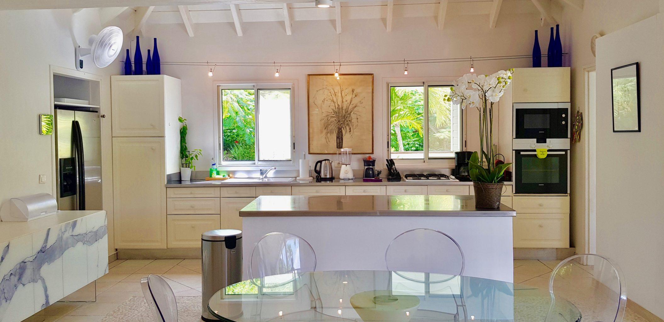 Villa Ylang Ylang - Isolated Villa for Rent St Barth Flamands with Pool - Kitchen