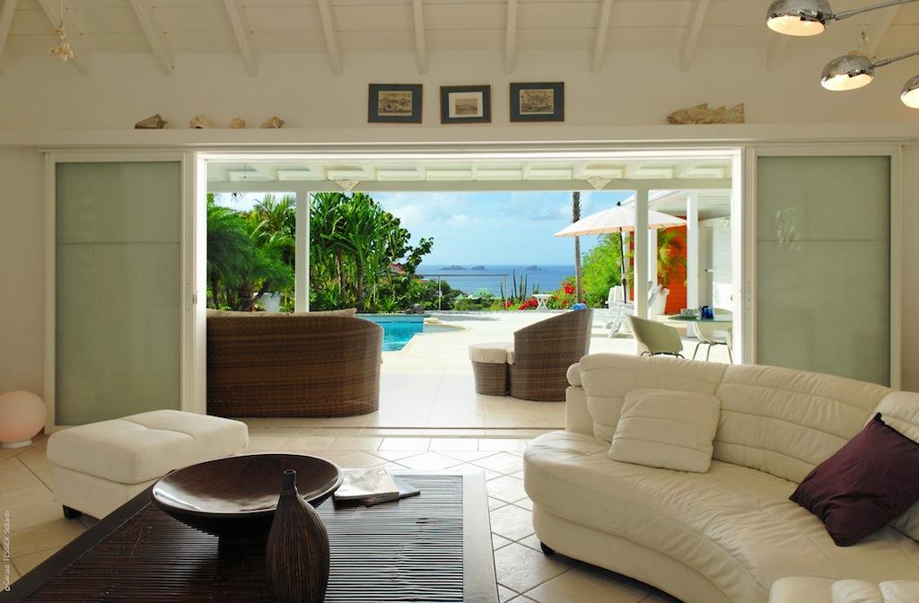 Villa Ylang Ylang - Isolated Villa for Rent St Barth Flamands with Pool - Main Area